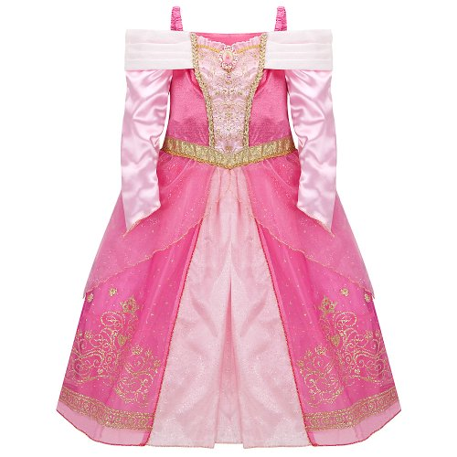 Princess Aurora And Prince Phillip Costumes (Disney Store Princess Aurora (Sleeping Beauty) Costume Dress for Girls Size XS 4)
