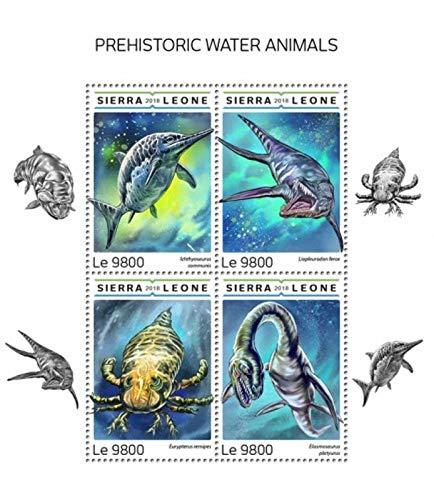 USPS Sierra Leone - 2018 Prehistoric Animals - 4 Stamp Sheet - ()