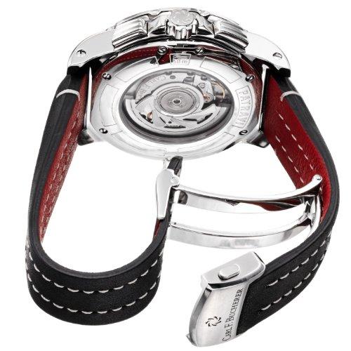 Carl F. Bucherer Men s 0010618133301 Patravi Black Chronograph Dial and Strap Watch