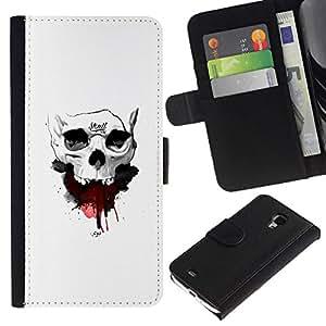 NEECELL GIFT forCITY // Billetera de cuero Caso Cubierta de protección Carcasa / Leather Wallet Case for Samsung Galaxy S4 Mini i9190 // Cráneo de la sangre