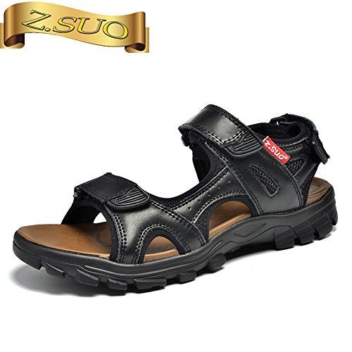 Xing Lin Sandalias De Hombre La Caída De Los Hombres Sandalias Nuevo Calzado Casual Open Toe Calzado De Playa Clip Dedos Sandalias De Juventud black