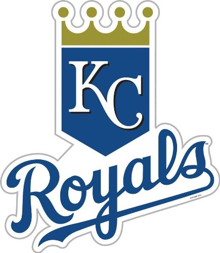 MLB Kansas City Royals 12-Inch Vinyl Logo Magnet