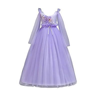 Zhhlinyuan Prom Vestido de Princesa para niñas - niñas ...