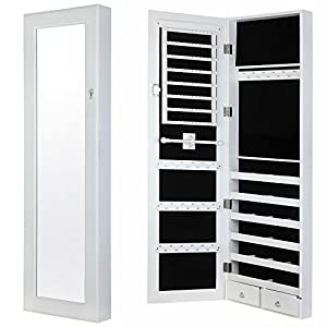 Ratings and reviews for Homegear Modern Door/Wall Mounted Mirrored Jewelry Cabinet Organizer Storage