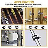 60pcs Cable Clamps Assortment Kit, 304 Stainless
