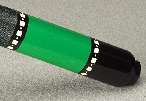 McDermott Lucky L72 Two-Piece Billiards Pool Cue Stick 3/8 x 10 - Green