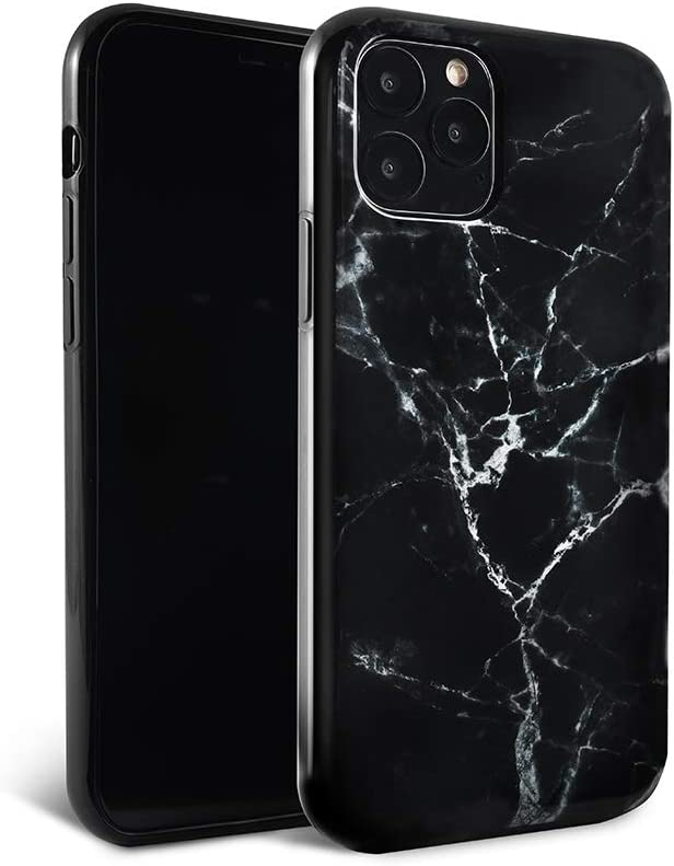 FELONY CASE iPhone 11 Pro Max Case - Black Polished Marble - 360° Shock Absorbing, Anti-Scratch, Protects Screen – Stylish Phone Case for Men & Women