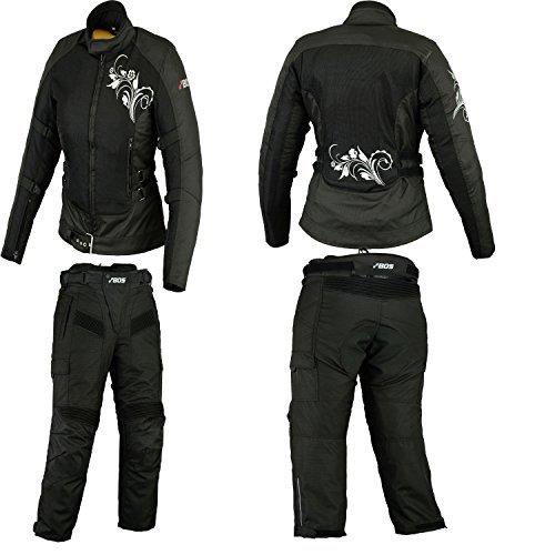 BOSMOTO Motorradkombi Damen, Textil Zweiteiler Kombi (XL) Muh