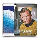 Official Star Trek Smirk Embossed Captain Kirk Hard Back Case Compatible for iPad Air (2019)