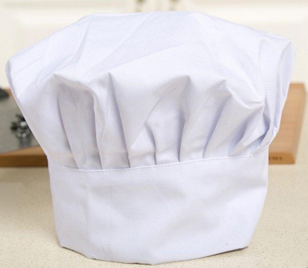 Leisial 1 Pz Cappello da Chef Maschile e Femminile Cuochi Apprentice Cappello da lavoro per Hotel Restaurant Cafe Cucina del ristorante occidentale,bambino
