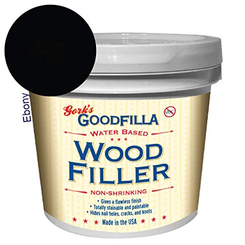 Water-Based Wood & Grain Filler - Ebony - 1 Gallon by Goodfilla | Replace Every Filler & Putty | Repairs, Finishes & Patches | Paintable, Stainable, Sandable & Quick Drying