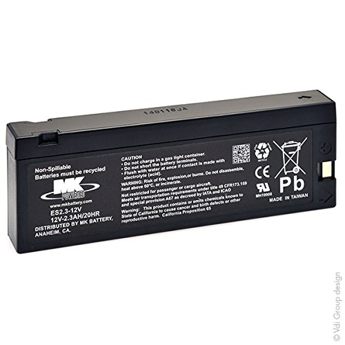 MK Powered - SLA Battery ES2.3-12V 12V 2.3Ah TU