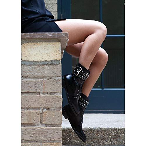 Boots Whitfield Leather Black Embellished Jewel Black Leather Biker Daniel nCFqZAxpwZ