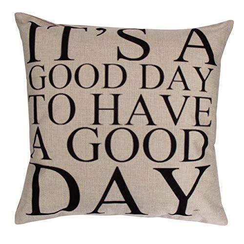 Littay Pillowcase 18inch x 18inch,Pillow Case Sofa Waist Throw Cushion Cover Home Decor