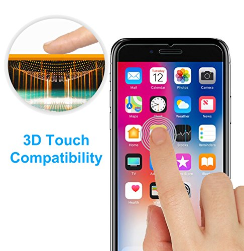 TheCoos [3-Pack] Tempered Glass Screen Protector for Apple iPhone 8 Plus and iPhone 7 Plus by TheCoos (Image #3)