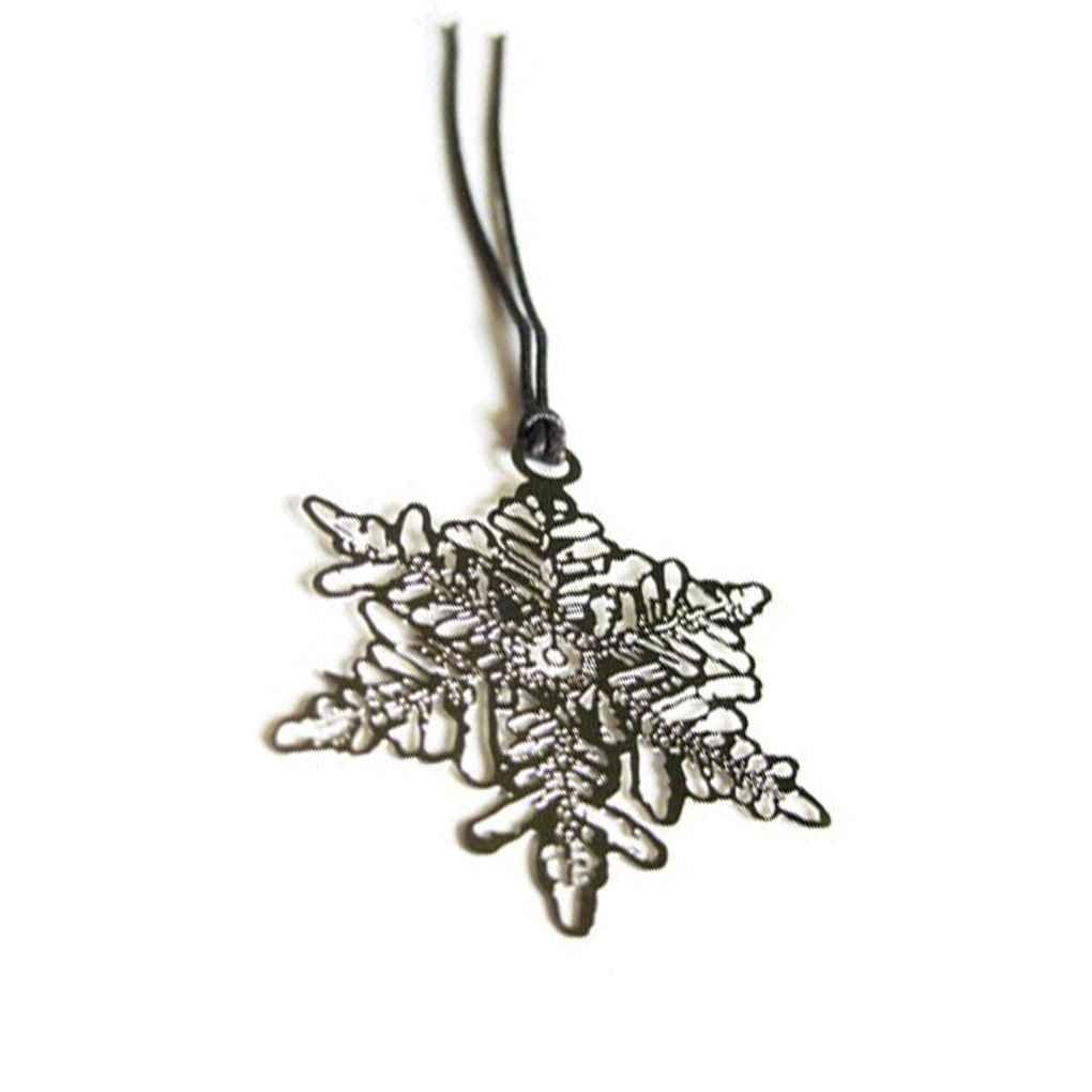 Golded placcato cavo del fiocco di neve Foglie segnalibri in metallo del contrassegno di libro con corda appesa Zerama
