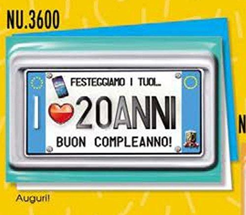 Tarjeta Felicitación cumpleaños 20 años una placa para tus ...