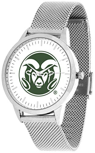 (Colorado State Rams - Mesh Statement Watch - Silver Band)