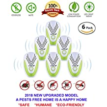 Wibi [2018 UPGRADED] Ultrasonic Pest Repeller- Electronic Mice Repellent Plug In for Insect Mice, Mouse, Bed Bugs, Flea, Fly, Spiders, Mosquitoes, Roaches, Ants, Eco-Friendly, Humans & Pets Safe