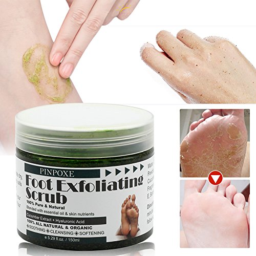 Foot Scrub, Foot Exfoliating Scrub Gel, Foot Callus Remover, Softens Feet, Remove Foot Callus & Dead Skin Cleansing Moisturizing ,Thick Cracked Rough Dead Dry Heel Feet With Natural Phytoextraction by BUOCEANS (Image #4)