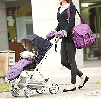 Baby Stroller Gloves,Fushop Waterproof Handlebar Gloves for Parents and Caregivers in Winter,Anti-Freezing Pram Hand Muffs,Windproof Cover Warm Muff Against Wind/Water/Snow, Hand Warmer Gloves(Black) F342A
