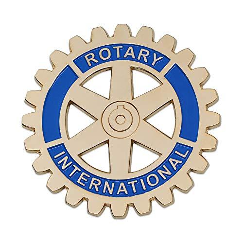 (Rotary International Round Gold & Blue Auto Emblem - 3