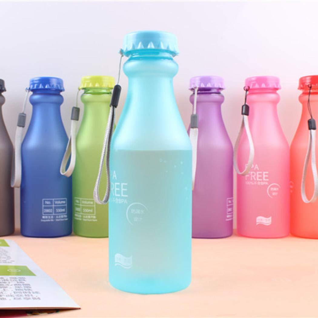 kaimus Botella de Agua de Viaje para Deportes al Aire Libre Taza de Agua port/átil para Ciclismo a Prueba de Fugas Teteras