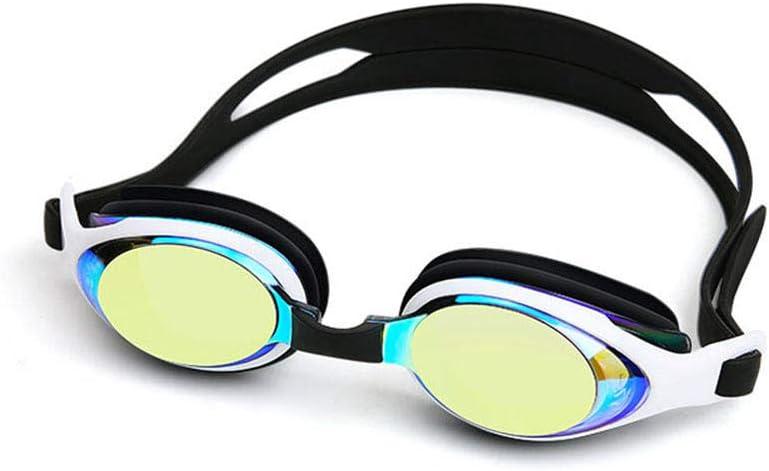 XHSSF Gafas de natación Gafas de natación para Adultos con miopía Gafas de natación Impermeables antivaho Gafas de natación Ajustables para Deportes acuáticos