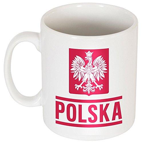 Polonia Lewandowski Team Tazza, unisex, White, Taglia unica
