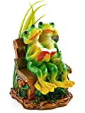 Love Never Dies Frog Couple Embracing Statue Figurine 7""