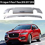 Fit for Jaguar F-Pace F Pace 2016 2017 2018 Chrome Stainless Steel Front Rear Bumper Board Skid Plate Bar Guard