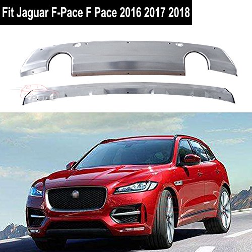 Fit for Jaguar F-Pace F Pace 2016 2017 2018 Chrome Stainless Steel Front Rear Bumper Board Skid Plate Bar Guard by KPGDG