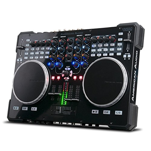 (ADJ Products VMS5 is 6 channel stand alone Midi Controller with 2 Phono, 4 Line, 4 USB, 2 Mic inputs ()