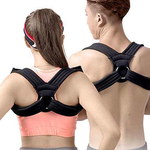 Rounded Support (Fully Adjustable Posture Corrector For Men, Women and Teens | Kyphosis and Rounded Shoulders Splint Brace With Comfortable Straps For Pain Relief and Neck Support | Effective and Easy (MEDIUM))