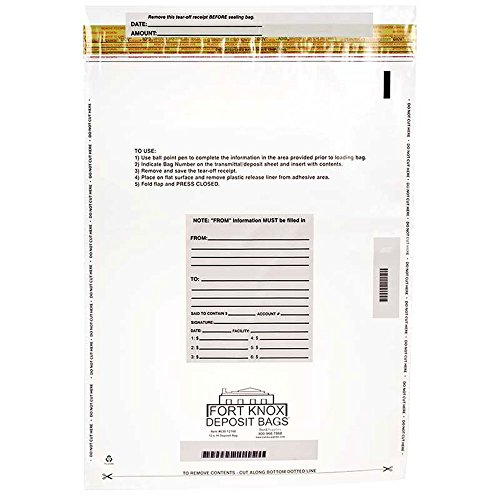 Clear Deposit Bags - 12 x 16 - Case of 500 ()