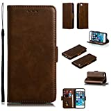 Lomogo Leather Wallet Case for iPhone 5S...