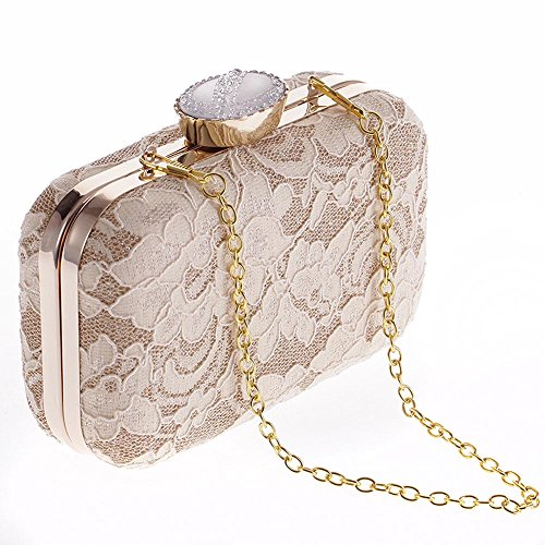 Bag Party Purse KLLXEB Bridal Dinner Evening For Hand Lace Women Women Clutch Bag Wedding champagne Bag Fashion YwYqFO8