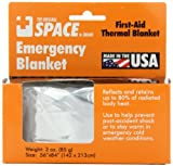 Grabber Outdoors The Original Space Brand Emergency Survival Blanket, Silver, 3oz. 56 X 84 Color: Silver Model: 22161 Home&Work Tools
