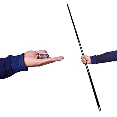 "43-1/4""/110cm Metal Appearing Cane with Video Tutorial Link Magic Wands for Professional Magicians Stage Close-up Magic Trick Pocket Staff Magic Accessories Props (Black): Toys & Games"