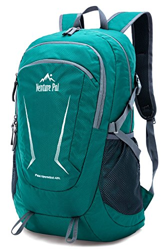 Venture Pal Large 45L Hiking Backpack - Packable Lightweight Travel Backpack Daypack for Women Men (Green) ... (Best Weekend Hiking Backpack)