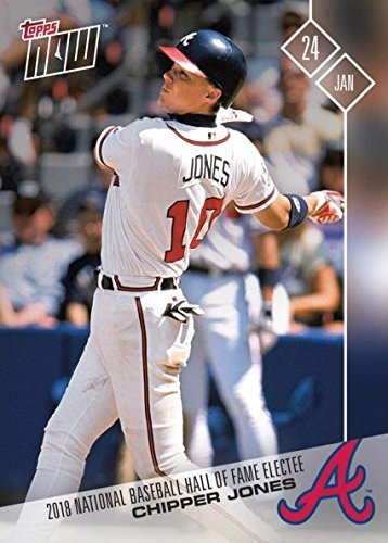 2018 Topps Now #OS-89 Chipper Jones Baseball Card - Elected into National Baseball Hall of Fame - Only 863 made!