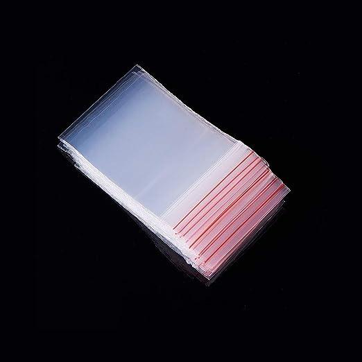 Kungfu Mall - Pack de 100 bolsas de plástico transparente con cierre de cremallera, 4 x 6 cm, grosor: 0,06 mm