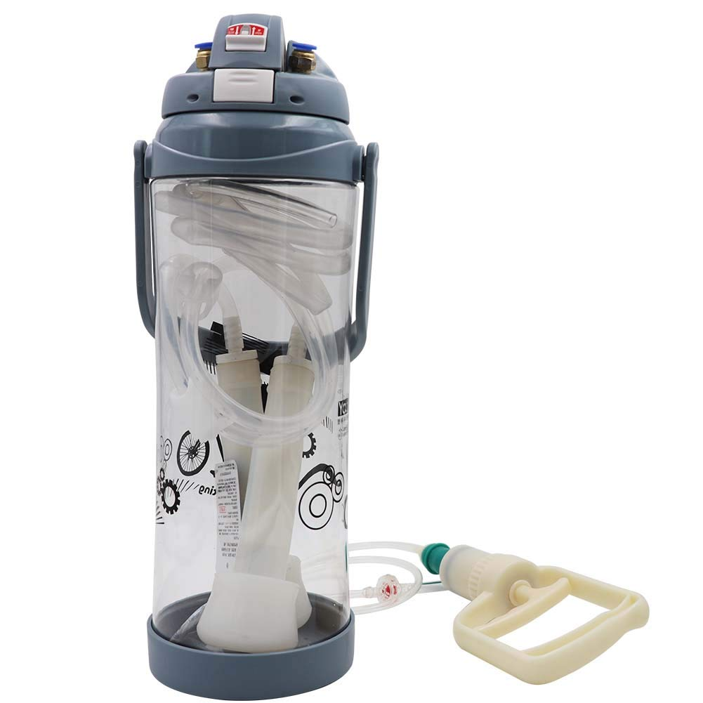 Cow, Blue M.Z.A Portable Manual Milking Machine Cow Sheep Goat Milker 3L//0.8 Gallon Double Head Milker Barrel Set Kit
