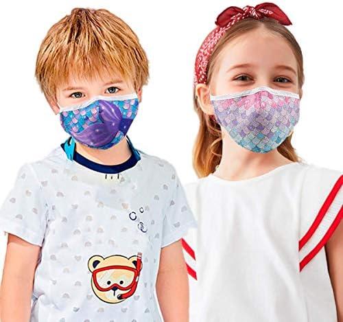 2 Pcs Kids Reusable Adjustable Face Mask. Gifts for Girls Boys