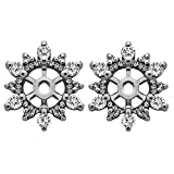 1/4 ct. Diamonds (G-H,I2-I3) Cluster Shaped Earring Jacket in Sterling Silver (0.24 ct. twt.)