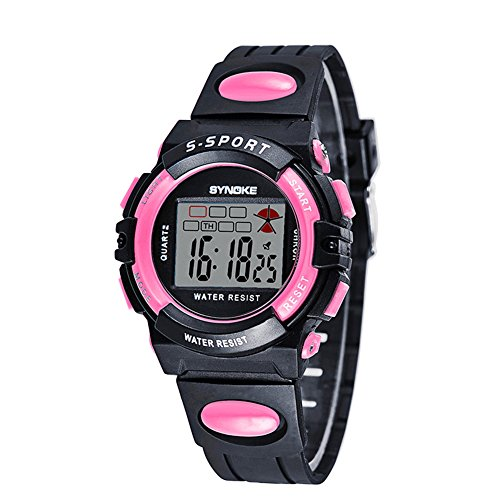 Water Resistant Digital Sport Kids Watch for Girls Chronograph by Touhum