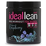 IdealLean, Pre Workout For Women, Blue Raspberry - Improve Energy, Endurance and Focus For Better Workout Performance - 30 Servings, 14.4 oz