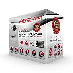 Foscam Plug and Play FI9826P (White) 1.3 Megapixel (1280x960p) 3x Optical Zoom H.264 Pan/Tilt Wireless IP Camera