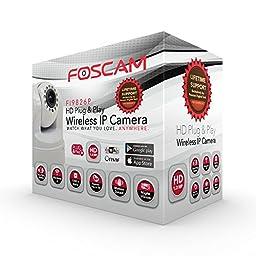 Foscam FI9826PW Plug and Play 1.3 Megapixel, 1280 x 960 Pixels, 3x Optical Zoom, H.264 Pan/Tilt Wireless IP Camera (White)