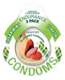 Endurance flavored condom spearmint, 3 pack (Pack Of 4)